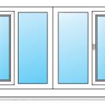 Балкон ПВХ Одностворчатые профиль алюминиевый 58мм стеклопакет 24мм, Барнаул