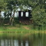 Баня на дровах. Беседки. Берег озера. Пруд Авиатор. В черте Барнаула., Барнаул