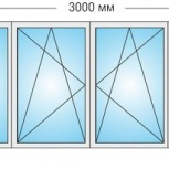 Лоджии Пластиковые Трехстворчатые профиль алюмин 58мм стеклопакет 24мм, Барнаул