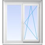 Окна пвх двустворчатые профиль 70мм стеклопакет 32мм, Барнаул
