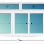 Балкон ПВХ Трехстворчатые профиль алюминиевый 70мм стеклопакет 32мм, Барнаул