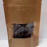 Пакет бумажный крафт дойпак с замком зип лок с прозрачным окном, Барнаул