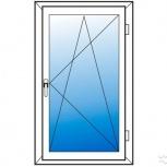 Окна пвх одностворчатые профиль 58мм стеклопакет 24мм, Барнаул