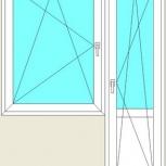 Балконный блок Пластиковые Одностворчатые профиль 70мм стеклопакет24мм, Барнаул
