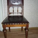 Продается набор кожаных стульев 19 век Германия, Барнаул