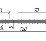 Гидроизоляционная шпонка АВКВАСТОП ПВХ-П ХВН-120 (2хØ6), Барнаул
