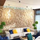 3D, VIP стена из термодревесины, Барнаул