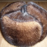 продается норковая шапка ушанка 58 размер, Барнаул