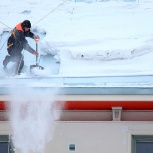 Очистка кровли от снега и наледи, Барнаул