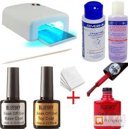 Купить набор для покрытия ногтей гелем в домашних условиях