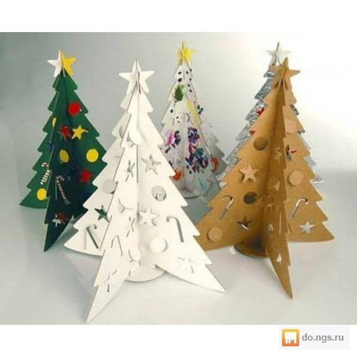 Новогодняя елка для офиса своими руками