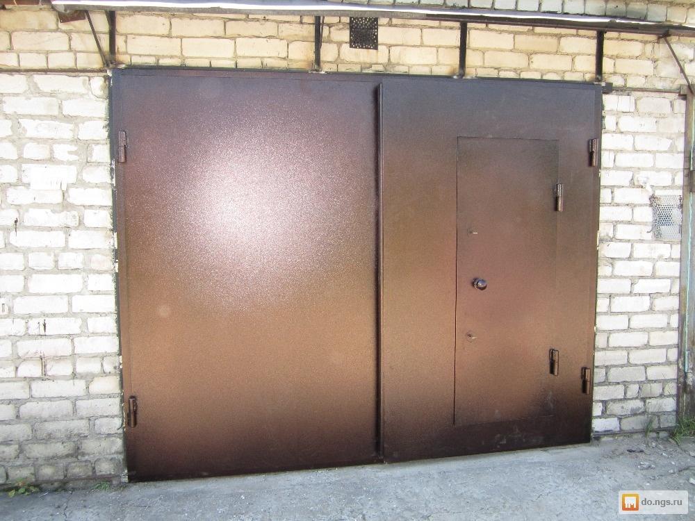 Металлические гаражные ворота своими руками