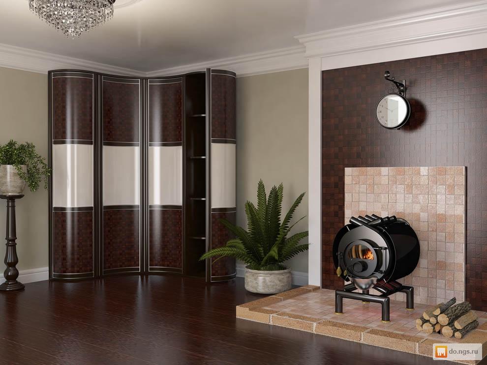 Распашной радиусный шкаф , фото. цена - 35000.00 руб., барна.