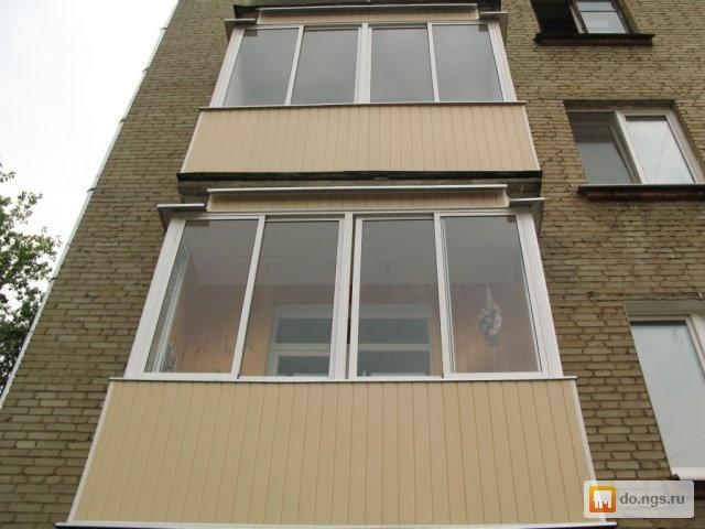 Остекление и отделка балконов. из пластика и алюминия . цена.